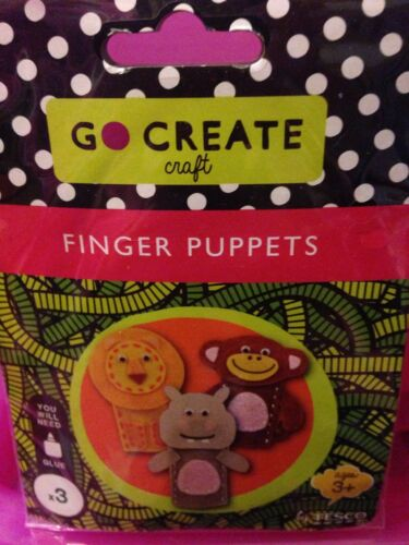 3 Make Your Own animal Finger Puppets Lion Hippo New Monkey