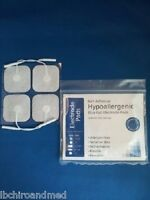 8 Hypoallergenic Electrode Pads Tens Units 2x2 Inch White Cloth Health Aids