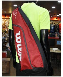 Wilson Tennis Racquet Bag Federer Team 3 Super Sling Bag Red Brand New WRZ833698