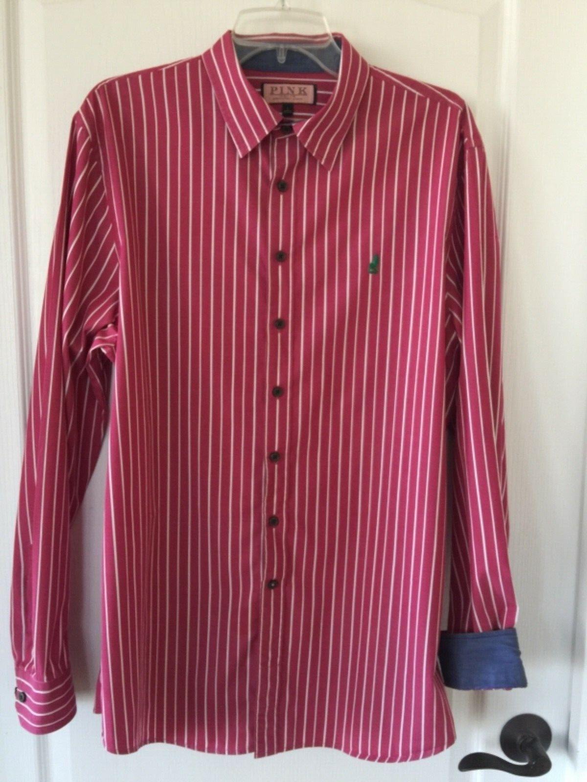 8c8290501 Thomas Men's Casual Sleeve Button Down Shirt Size L Pink Long ...