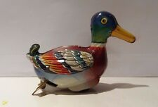 Vintage tin friction roll duck toy, US Zone Germany DRGM, Kohler? Kellermann?