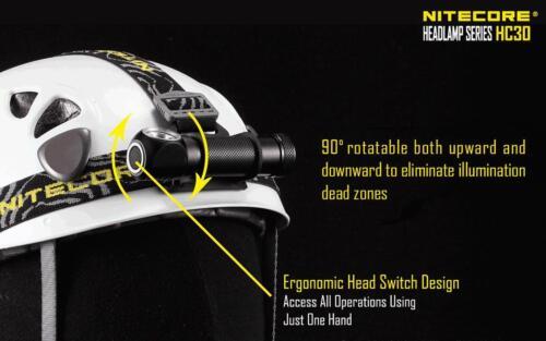 HC50 HC90 Nitecore HC30 compact 1000 lm DEL Projecteur-Free 2x CR123A Batt
