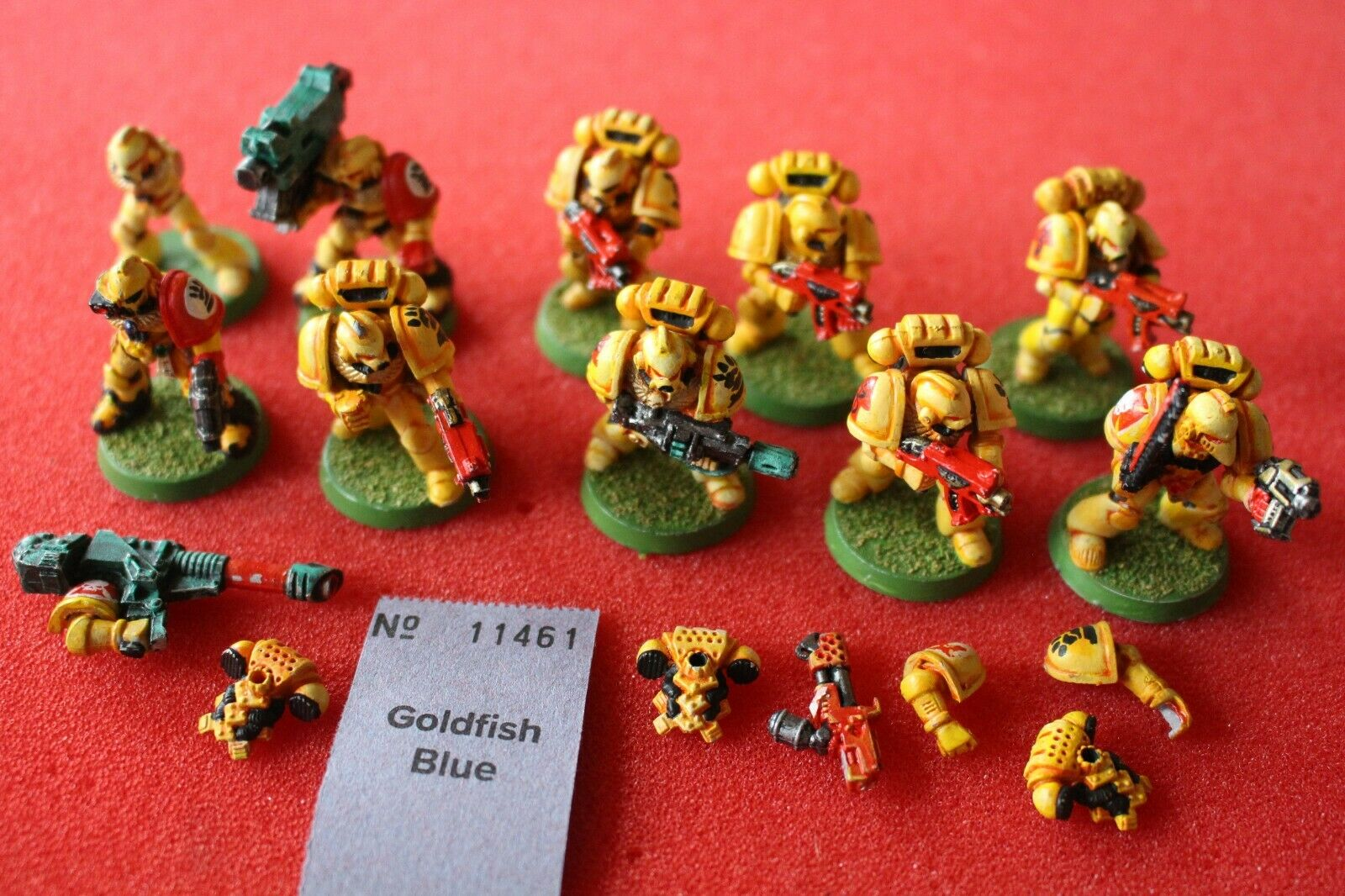 Games Workshop Warhammer 40k Imperial Fists Tactical Squad Metal Well Painted GW
