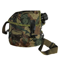 Military Gi Style Camo Nylon Bladder Canteen Cover W/ Shoulder Strap