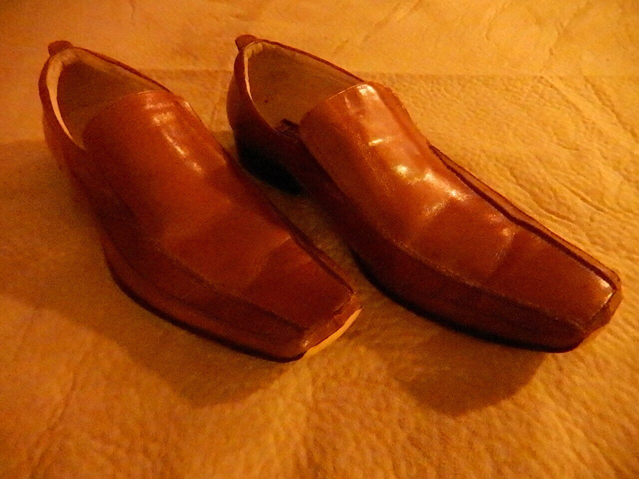 Stacy Adams mens dress shoes very soft leather w croco print, bike toe size 11 M