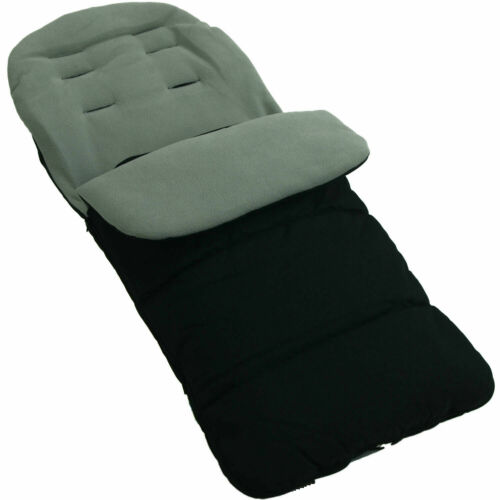 Universal Footmuff Cosy Toes Fits All Pushchair Stroller Dolphin Grey Buggy