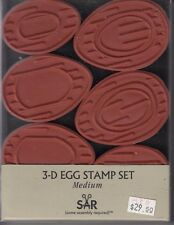"""egg stamp set 3-D  andy jackson Wood Mounted Rubber Stamp  4 1/2x 6""""  Free Ship"""