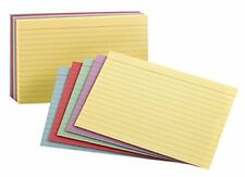 Oxford Ruled Color Index Cards 4 X 6 Assorted Colors 100 Per Pack 34610