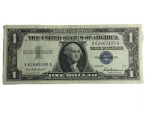 Crisp CU 1957 $1 One Dollar Bill Blue Seal USA Silver Certificate Currency Note