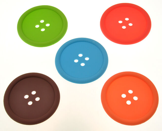 Silicone Coffee Placemat Button Coaster Cup Mug Glass Beverage Holder Pad Mat CN
