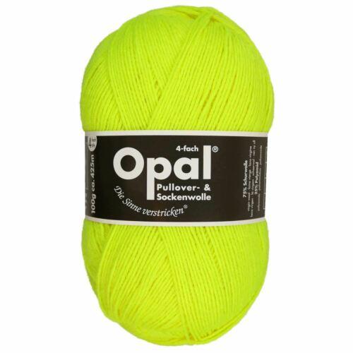 "2012 Opal /""Uni/"" Solid Sock Yarn Neon Yellow"