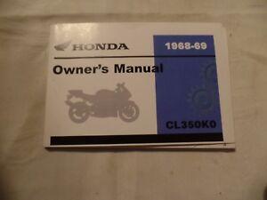 Honda Owners Manual >> Nos Honda Owners Manual Cl350 Cl 350 Scrambler 68 69 K0