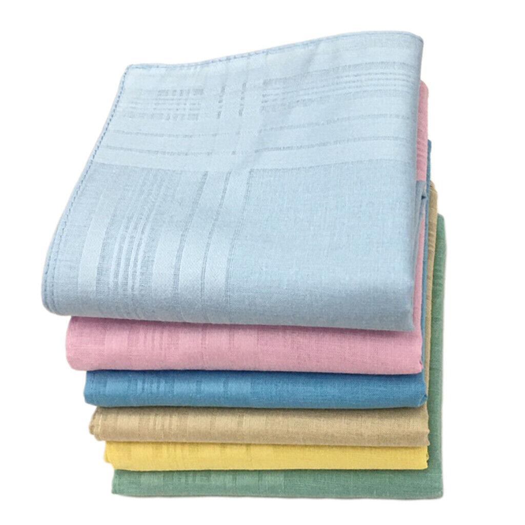 12pack Classic Pure Cotton Handkerchiefs Washable Pocket Party DIY Hankie