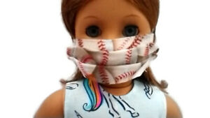 Baseball-Face-Mask-18-034-Doll-Clothes-fits-American-Girl-Doll