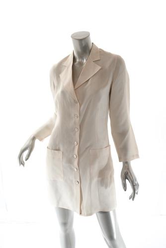 SALVATORE FERRAGAMO Vintage Cream 100% Silk Shirt