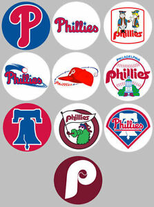 Philadelphia-Phillies-Set-of-10-Buttons-or-Magnets-1-25-inch