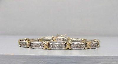Impressive 3 Carat Diamond Tennis Bracelet 10k Gold