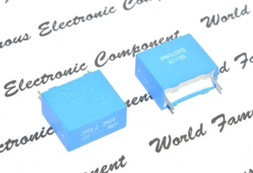PHILIPS MKP379 0.39uF 250V 5/% pitch:15mm Film Capacitor 10pcs 0.39µF 390nF