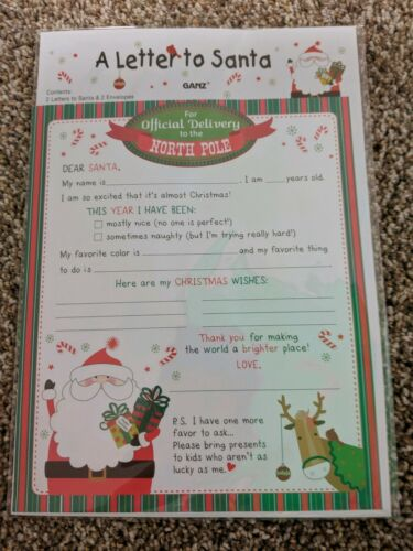 A Letter To Santa Stationary And Envelopes