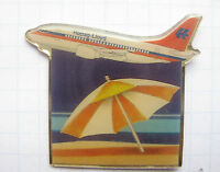 HAPAG LLOYD / STRAND / SONNENSCHIRM....... Flugzeuge&Airlines-Pin (106e)
