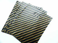 "50  BLACK & GOLD PLASTIC CARRIER BAGS 9 "" X 11"""