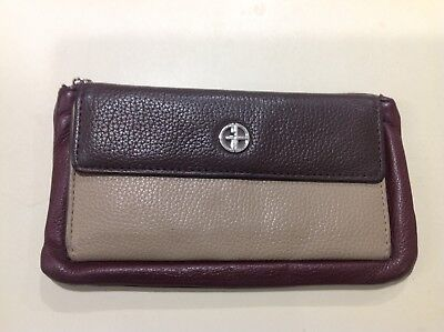 Giani Bernini Block Signature Zip Around All In One Wallet Brown//British Tan