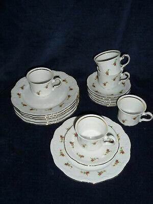Mitterteich;Princess Gold;6 Kaffeegedecke;Tassen; limitierte Auflage ;Goldrand