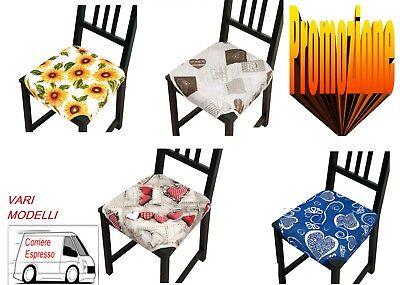 CUSCINO imbottito copri sedia ALETTE lacci UNIVERSALI cucina soggiorno 6 PEZZI   eBay