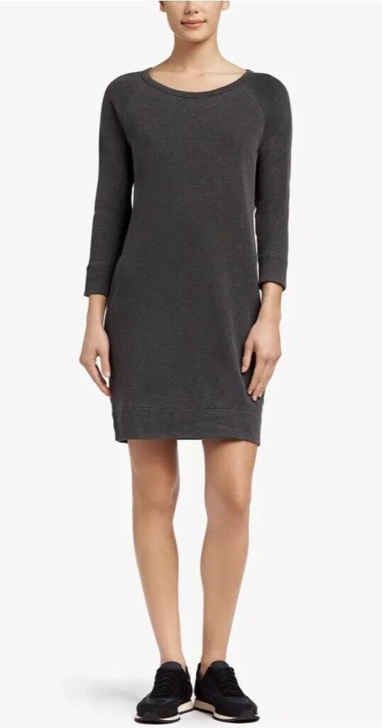 James Perse Perse Perse Vintage Fleece Sweater Dress Carbon Grey 0 xs 0afb02