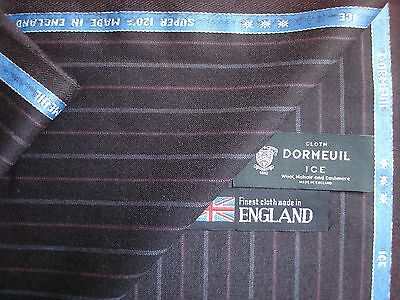 88%SUPER 120's,8% MOHAIR,4%CASHMERE FLANNEL SUITING FABRIC BY Dormeuil-ICE- 3.4m