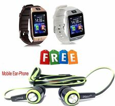 Smart Watch Phone GSM SIM+Card Slot Support Android IOS Phone + FREE Ear-Phone