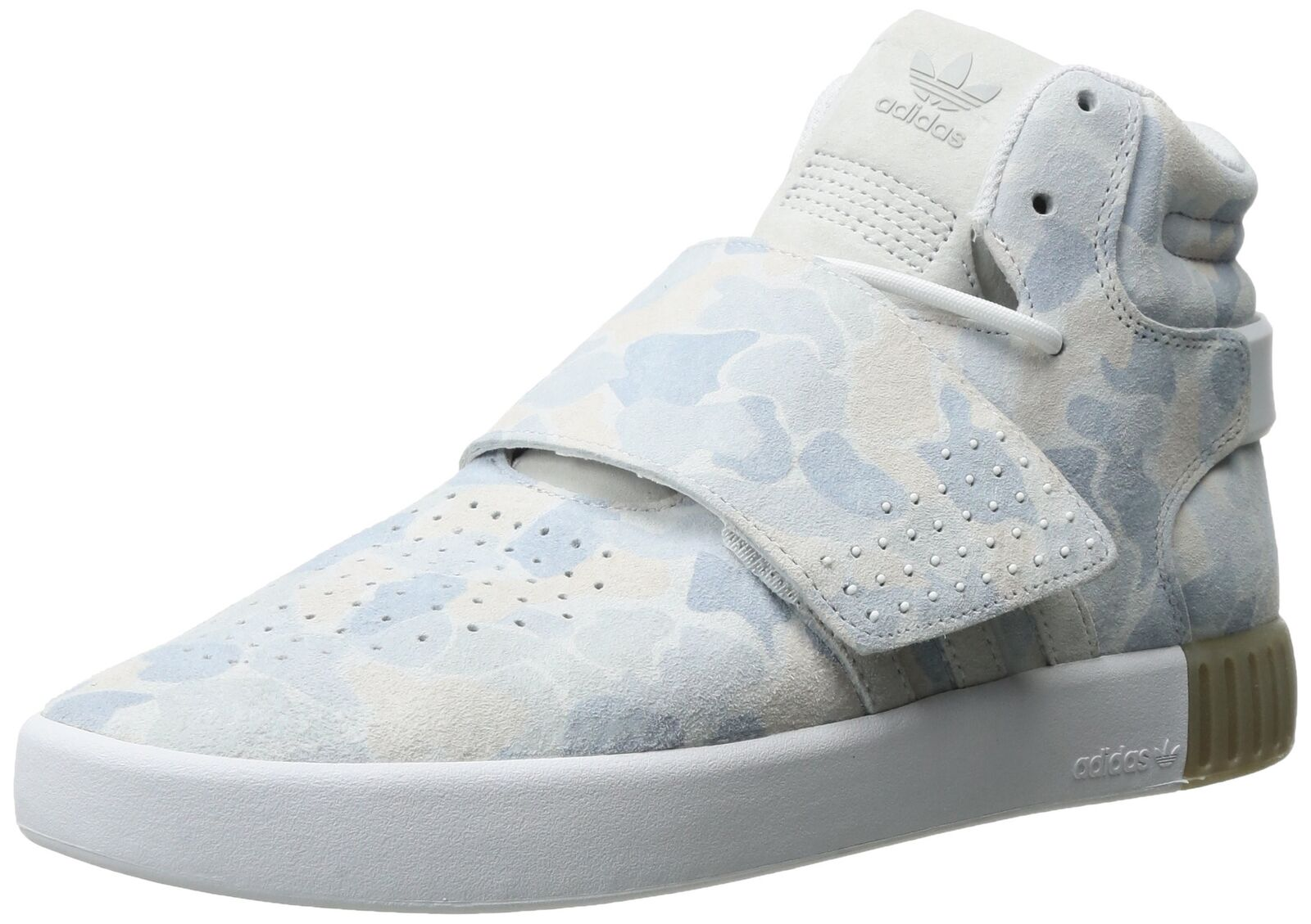 adidas Originals Men's Tubular Invader Strap Shoes White/White/Lgh Solid ... New