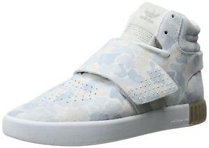 adidas Originals Men's Tubular Invader Strap Shoes White/White/Lgh Solid ... New
