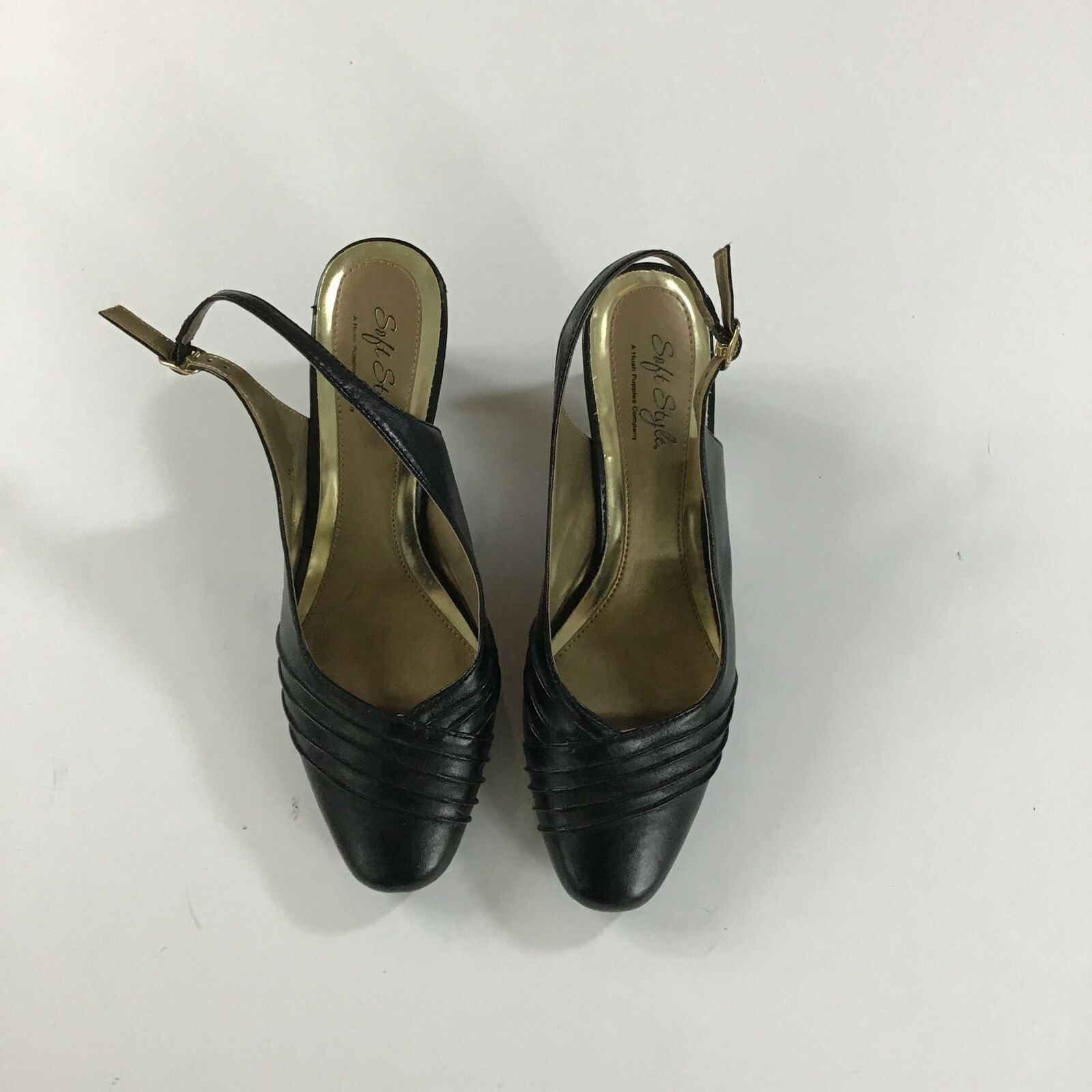 Women's Low Heel Pointed Toe Soft Style Black Shoes 8M