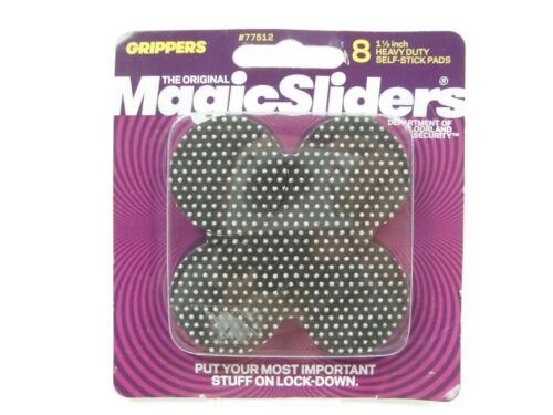 8 Pack Magic Sliders 1-1//2 In Heavy Duty Gripper Pad 77512
