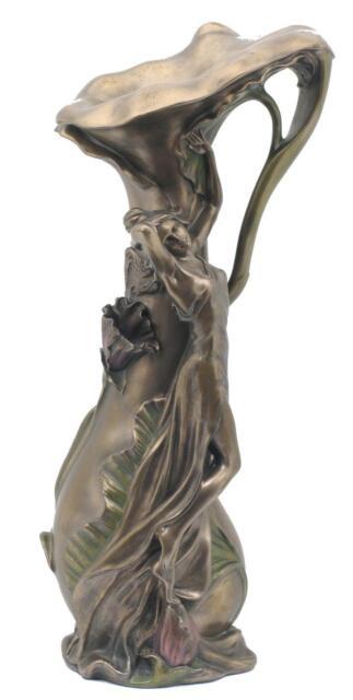 Veronese Bronze Figurine Art Nouveau Languid Lady Vase Gift Home Decor