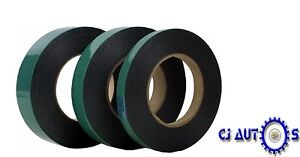 12mm x 10m Double Sided Foam Black Badge Tape Waterproof Sticky Strong Adhesive