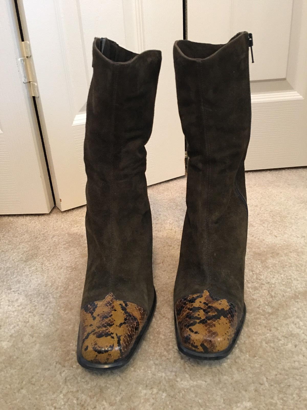 Lavorazione Artigiana & Boots  - Suede & Artigiana Leather - Made in Itay - Heels - Size 7.5 3cf89e