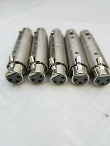 5-LOT-3-PIN-XLR-FEMALE-TO-FEMALE-GENDER-CHANGER-COUPLER-MICROPHONE-ADAPTER