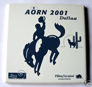 Image Is Loading Ceramic Tile Souvenir Aorn 2001 Dallas Cowboy On