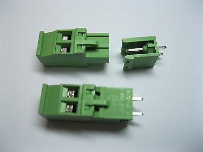 Set 2 Pin 2.54Mm Pitch Pcb Mount Screw Terminal Block Connector Conector Del Bloque De Terminales 50Pcs