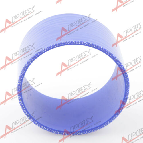 """3 Ply 1/"""" inch Straight Hose 70mm Turbo Silicone Coupler Pipe Blue"""