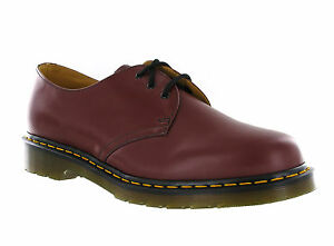 acd9a5b053ba2 Dr Martens 1461 3 Eye Cherry Red Smooth Leather Formal Shoes UK3-15 ...