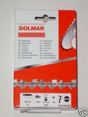 "Halbmeißel Sägekette 3//8/"" 45 cm für DOLMAR Motorsäge PS-6100"