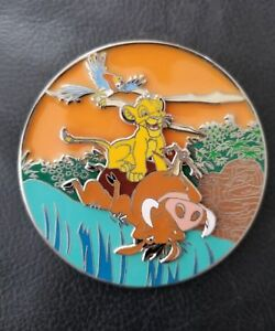The Lion King Simba Cub Timon Pumba Fantasy Pin Le 35 Jumbo Stained