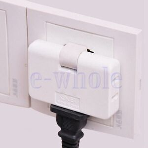 3-Outlet-Grounded-AC-Power-2-Prong-Swivel-Light-Wall-Tap-Adapter-Travel-White-TW
