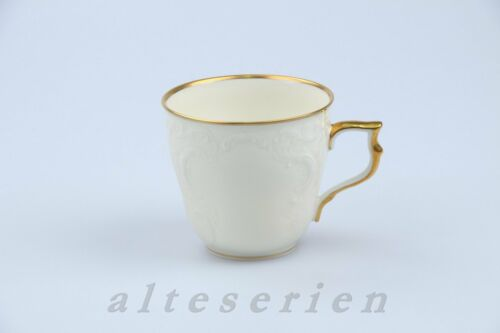 Kaffeetasse D 7 cm H.. Rosenthal Sanssouci  elfenbeinfarben Poliergoldrand 2819