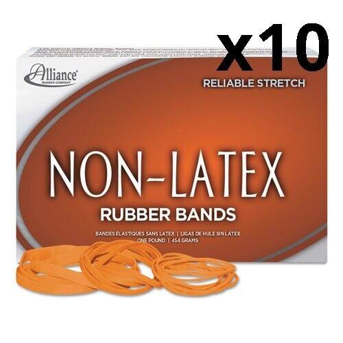 "Non-Latex Rubber Bands 0.04/"" Gauge Orange Size 117B 1 lb Box 250//Box Pack"