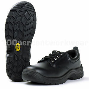 VA-Water-Resistant-Black-Leather-Work-Safety-Shoes-Steel-Toe-Cap-Mid-Sole-S3-SRC