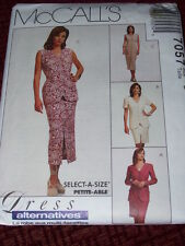 McCALL'S #7057-LADIES JACKET-VEST-DRESS & SKIRT IN TWO LENGTHS PATTERN  12-16 FF